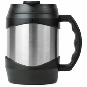 Travel Mug Oversized  52oz Stainless Steel   Black