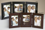 Triple Picture Frame Wood 5 x 7