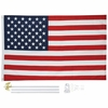 United States Flag Polyester 3 x 5  with Wall Mount Pole Kit