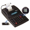 Victor 1280-7 Two-Color Printing Calculator with USB, 12-Digit Fluorescent, Black/Red