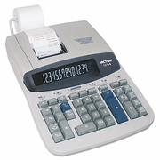 VICTOR 1570-6 Two-Color Ribbon Printing Calculator, 14-Digit Fluorescent, Black/Red