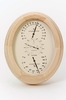 "Weather Station Mini Wall or Desk Model with Oak Finish  7"" h"