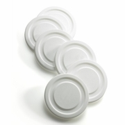 White Working Glass Lids, Set 6  (Fits 10 oz. ONLY)