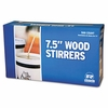 Wood Coffee Stirrers Long, Round Ends (500/pkg)