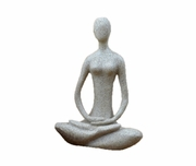 "Yoga Figurine Full Lotus  Sandstone 8.7""h"