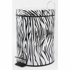 Zebra Flip-Lid Trash Can Small  FREE SHIPPING