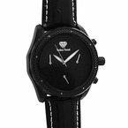 .08cttw Diamond Black Hip Hop Watch