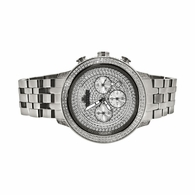 1.00cttw Diamond Hip Hop Watch IceTime Stainless Steel