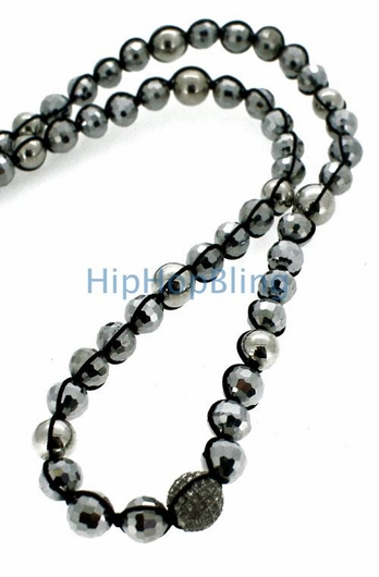 1 Ball Silver Beads Disco Ball Bling Bling Chain