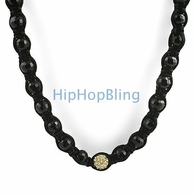 1 Gold Disco Ball Bling Bling Necklace
