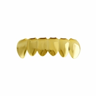 #1 Style Bottom Grille Teeth Gold Tone Grillz