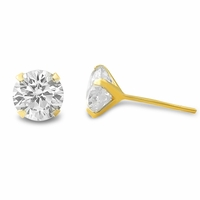 10K Gold CZ Earrings