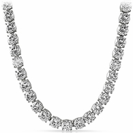 10MM Huge CZ 316L Never Fade Bling Bling Chain