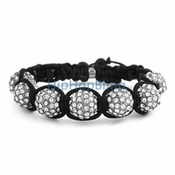12mm 7 Ball Bling Bling Disco Ball Bracelet