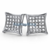 .15ct Diamond Kite Earrings .925 Silver