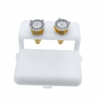 2.00 Carat Illusion .925 Silver Diamond Studs Gold