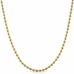 2.5MM Triple Thick Gold Moon Cut Chain