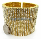 20 Row Gold Mega Bling Bling Bracelet