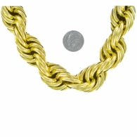 20mm Gold Dookie Rope Chain