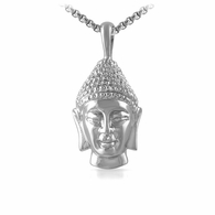 3D Buddha Head Pendant Stainless Steel