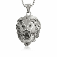 3D Lion Head Detailed Pendant Stainless Steel