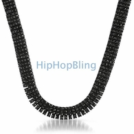 4 Row Black on Black Chain with Over 750 Faux Black Diamonds