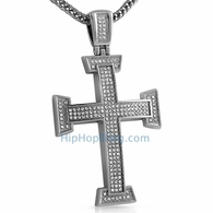 Micro Pave Bling Bling Cross