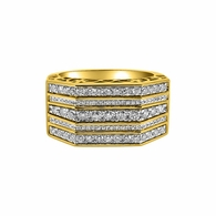 5 Ice Rows Real Diamond 1.00cttw 10K Gold Ring