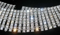 """8 Row 30"""" Silver Iced Out Hiphop Chain Almost 1000 Stones"""