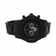 All Black Bling Metal Band Watch