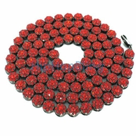 All Red on Black Iced Out Cluster Chain 750 Stones!