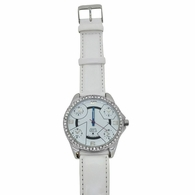 All White 5 Timezone Bling Hip Hop Watch