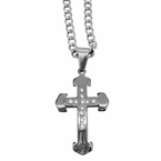 Arrow Cross Stainless Steel Pendant Chain Set