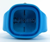 Baby Blue Jelly Band Watch Square Face