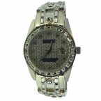 Baguette Silver Bling Bling Players Watch