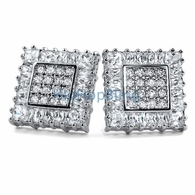 Baguettes & Princess Box CZ Iced Out Earrings