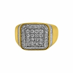 Baller 1.00cttw Diamond Mens Bling Ring 10K Gold