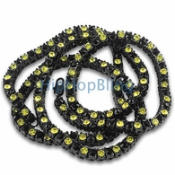 Black and Yellow Panther Black Bling Bling Chain