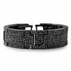 Black Bling Bling Bracelet Blocks of Ice