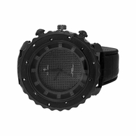 Black Bling Hip Hop Watch Pave Dial