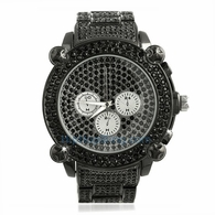 Black Chrono Fully Iced Out Hip Hop Watch