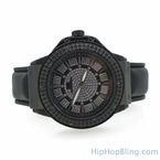 Black Designer Watch Super Techno Real Diamonds