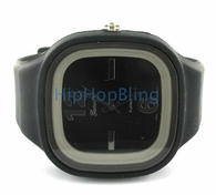 Black Jelly Band Watch Square Face