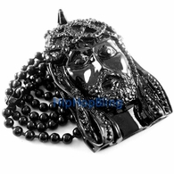 Black Jesus Piece Pendant & Necklace Kanye West Style MEGA SALE