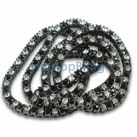 Black & White Checkered Iced Out Black Chain