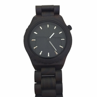 Black Wooden Watch Hour Markers