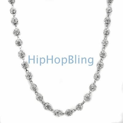 Bling Bling Chain Fully Iced Out Beads