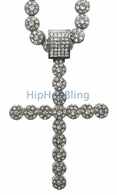 Bling Bling Cluster Chain Iced Out Cross Combo