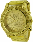 Bling Bling Gold Sports Mesh Watch Techno Pave