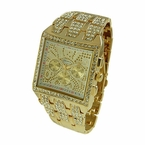 Bling Bling Gold Square Hip Hop Watch